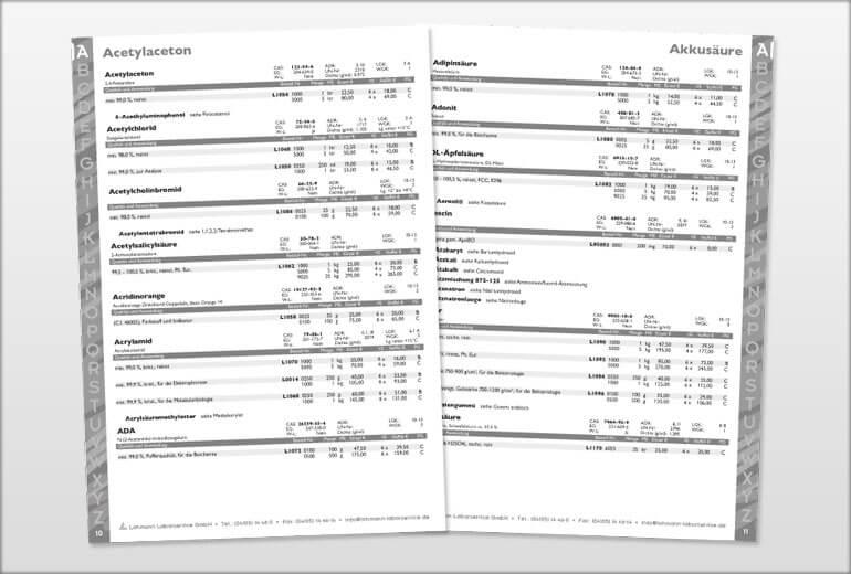 Printmedien - LOLAB GmbH Katalog 2004