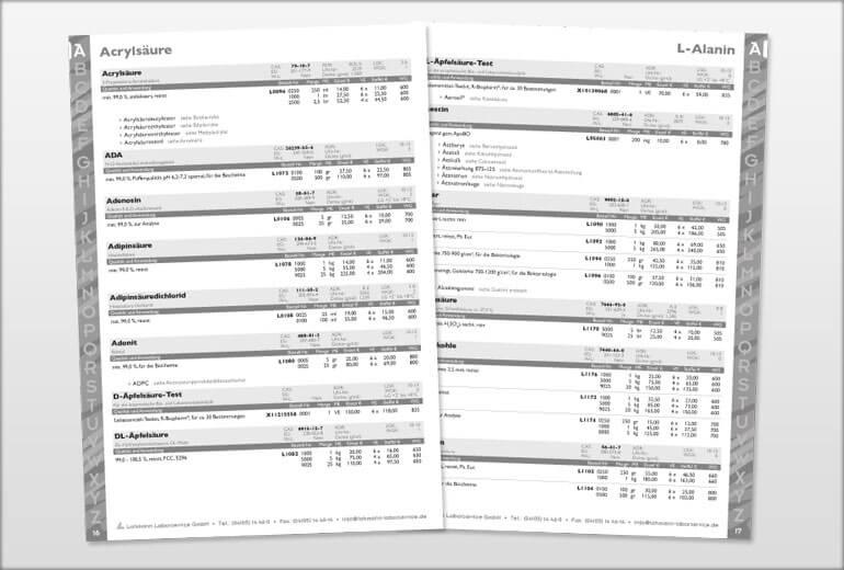 Printmedien - LOLAB GmbH Katalog 2008