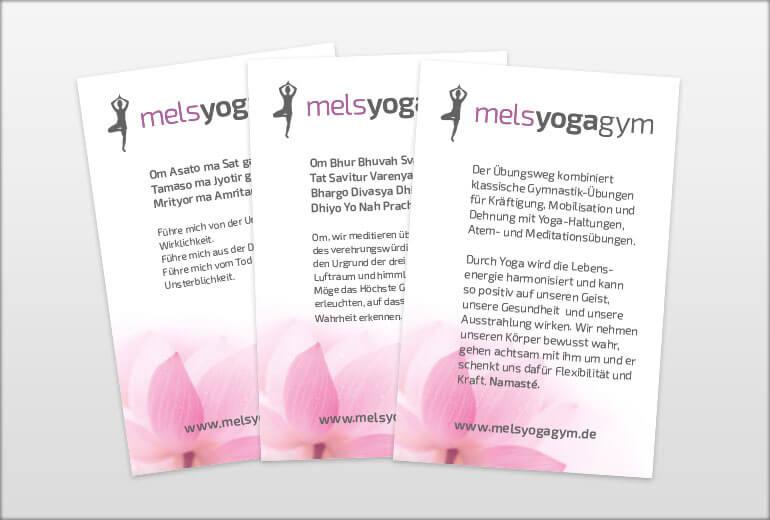 Printmedien - melsyogagym Flyer