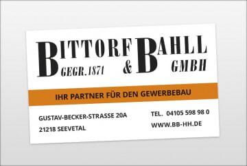 Werbegestaltung - Bittorf&Bahll Bauschild