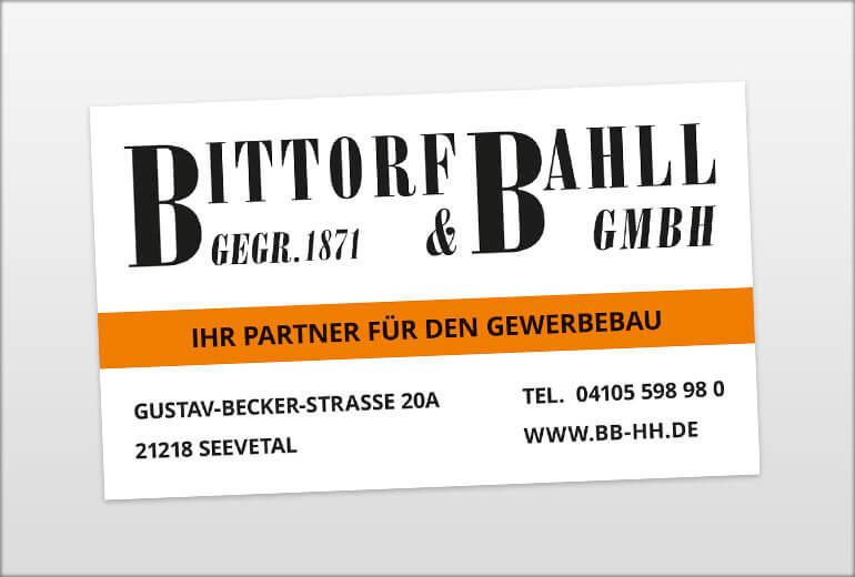 Bittorf & Bahll – Bauschild