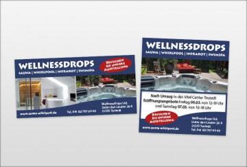 Werbegestaltung - Wellnessdrops Ltd Anzeige