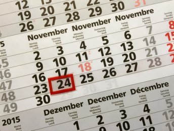 Jahreskalender für 2016