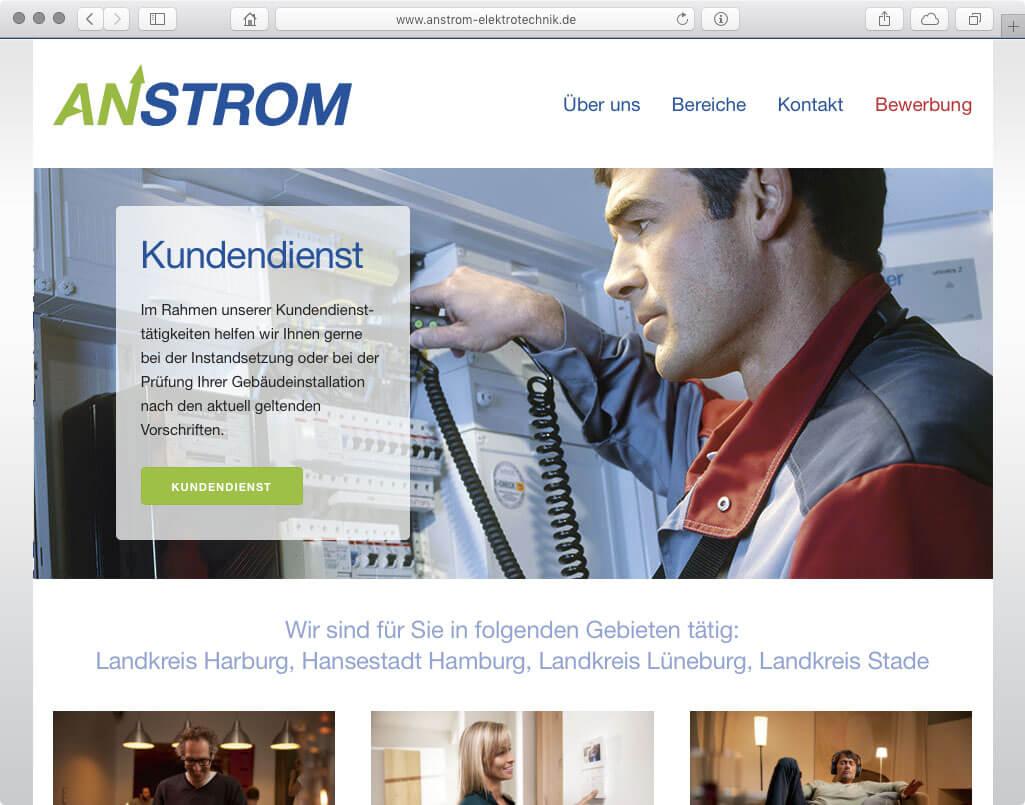 Webseite - Anstrom