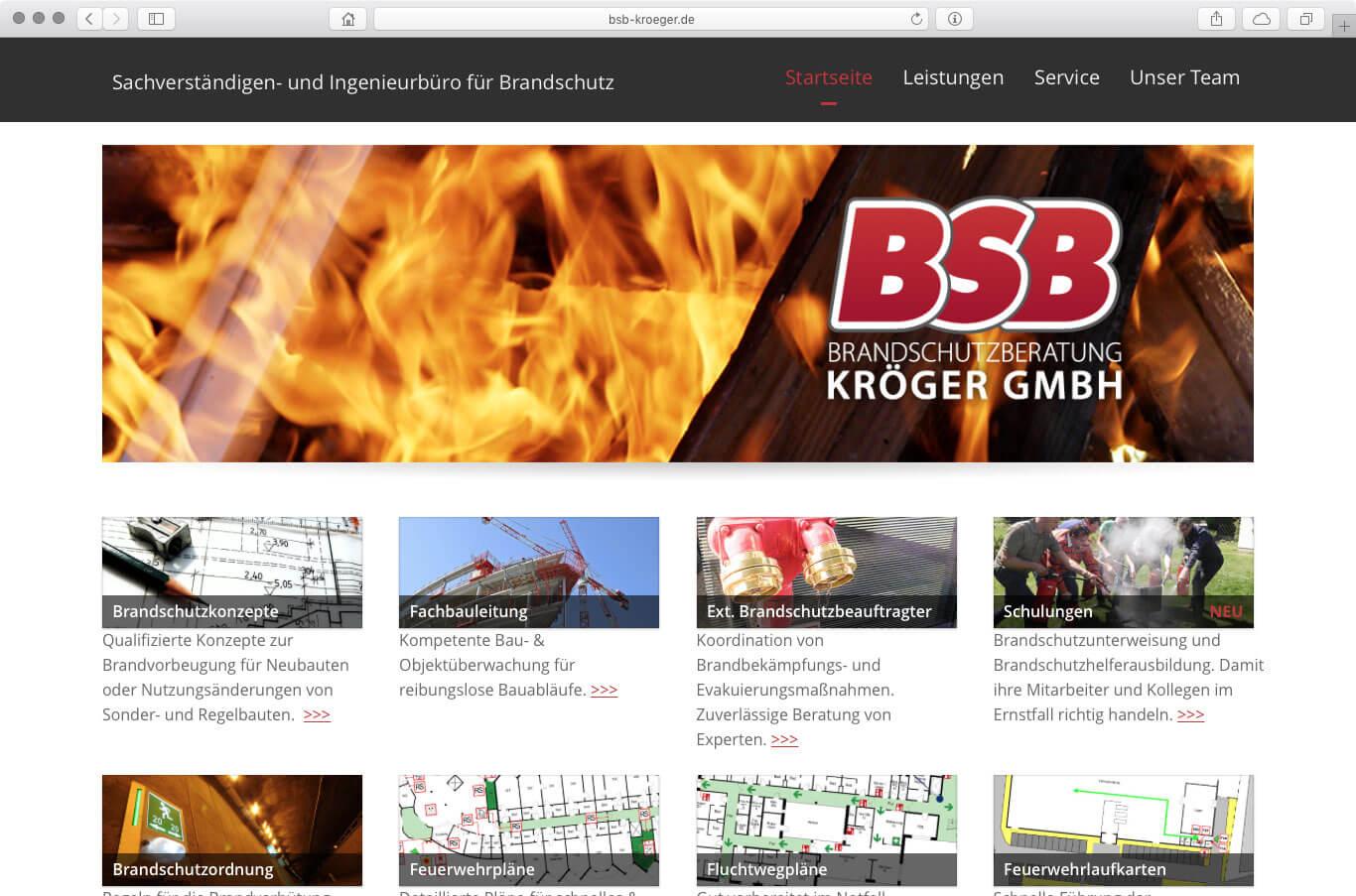 Webseite - BSB Kröger