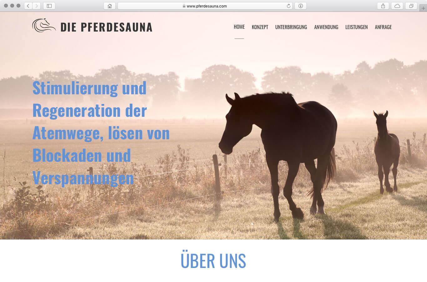 Webseite - Pferdesauna