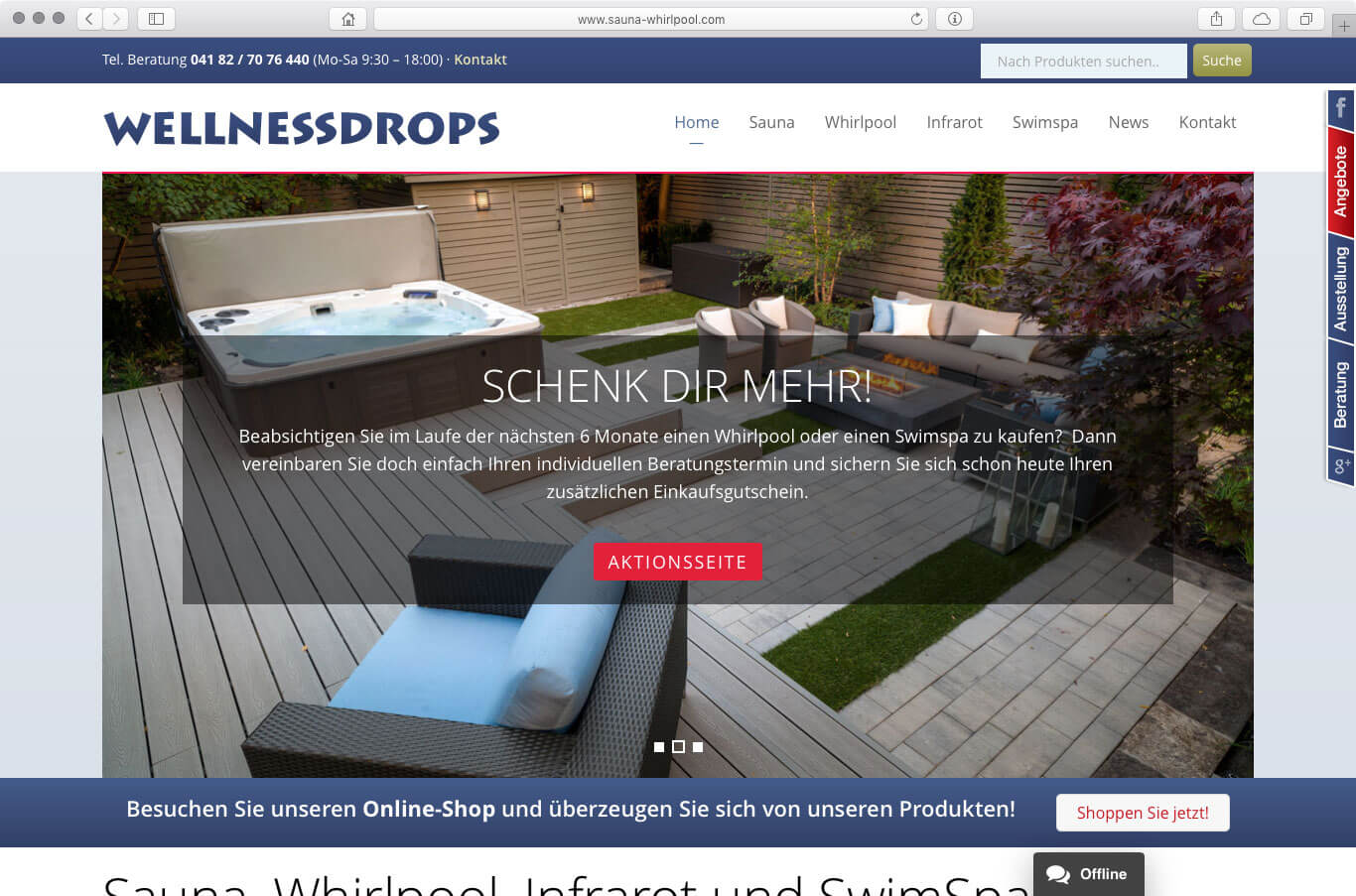 Webseite - Wellnessdrops Ltd