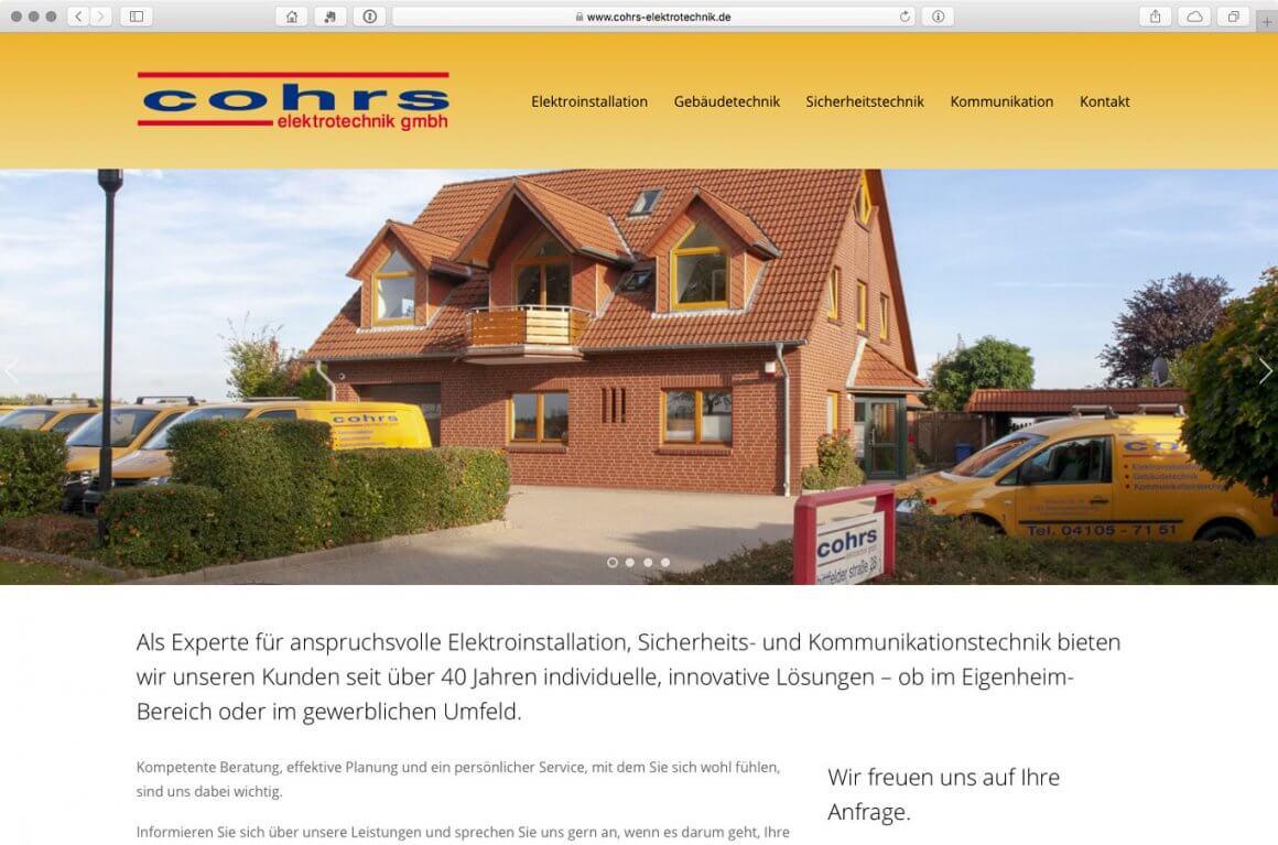 Webseite-WP-Cohrs-Elektrotechnik